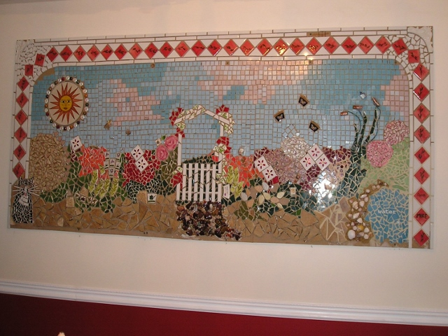 Mosaic on wall