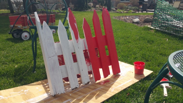 Painting the red fence