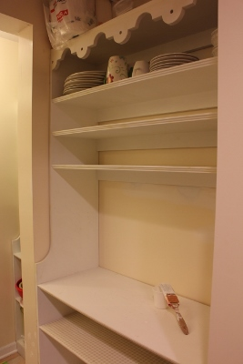 Pantry shelf being painted