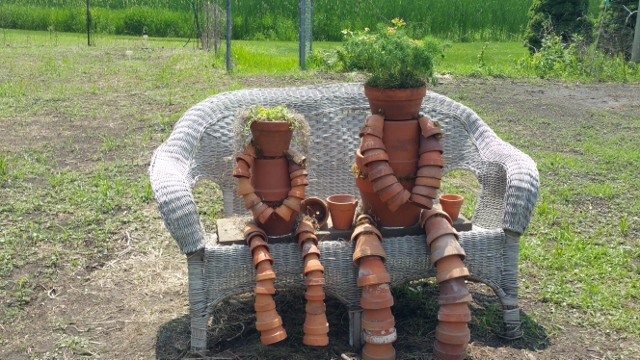 Glory and Gracie Clay pot people (640x360)