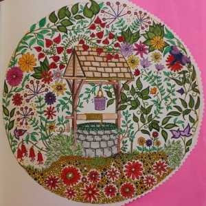 Wishing Well from Secret Garden Coloring Book